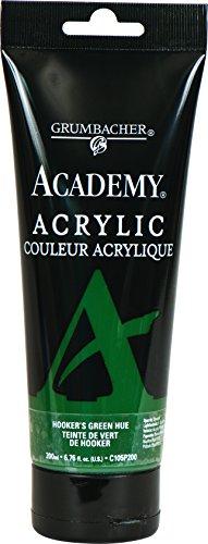 (Grumbacher Academy Acrylic Paint, 200ml/6.8 oz. Plastic Tube, Hooker's Green Hue (C105P200) )