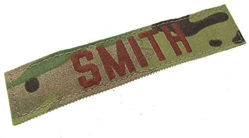Multicam Name Tapes - Custom Air Force Scorpion OCP Name Tape with Hook - 5 INCH