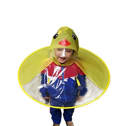 Paraguas de chubasquero para niños con diseño de dibujos animados de corazón, paraguas en forma de UFO y sombrero de...