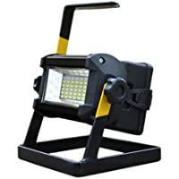 Work Lights Spotlights Outdoor Flood Lights 50w, Built-in Rechargeable Lithium Batteries Waterproof 3 Modes 36 LED