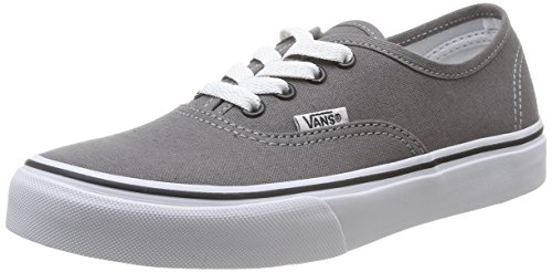 Vans Kids Authentic Pewter/Blk Skate Shoe 4 Kids US for $<!--$55.00-->