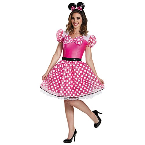 Pink Minnie Mouse Glam Adult Costume - (Pink Minnie Mouse Glam Costumes For Adults)
