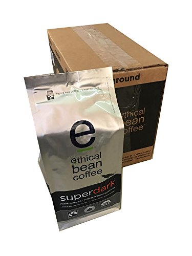Ethical Bean Coffee - Super Dark, Whole Bean 12 oz (Pack of 6)