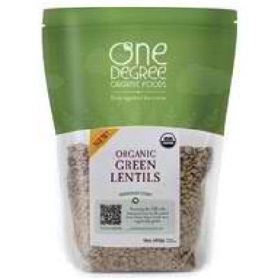 One Degree Organic Foods Organic Green Lentils, 16 Ounce