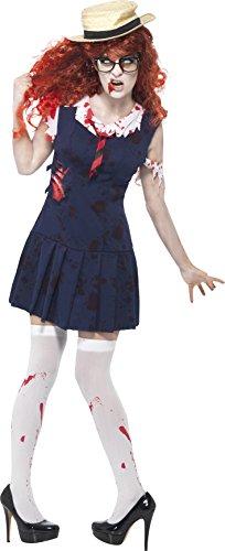 [Smiffys Women's High School Horror Zombie College Student Costume] (Zombie School Girl Adult Womens Costumes)