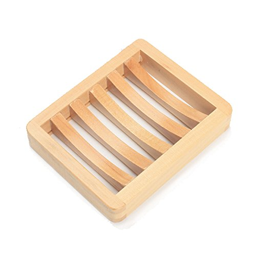 Changing Places Tea Wood Soap Dish Wooden Shower Soap Saver 4.6'' x 3.7'' by Changing Places