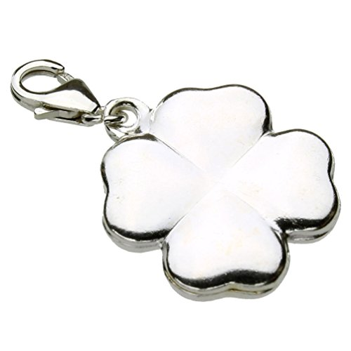 - Sterling Silver Shamrock Lobster Clasp Clip-On Dangle Charm