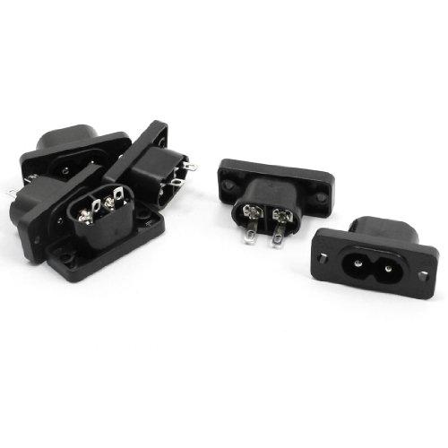 6 x AC 250V 2.5A IEC320 C7 Socket Soldering Pins Power Connector