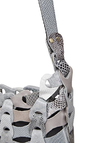 De gris Al Bolso Mujer Piel Hombro Octopus Denmark Negro Para zI6TqIn4