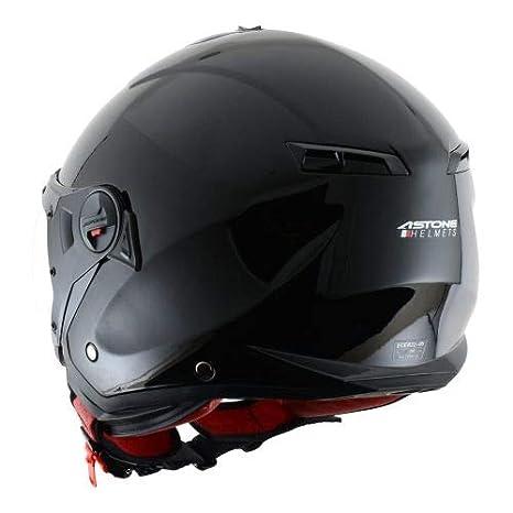 Astone Helmets Casque de moto look sport Casque de scooter mixte MINIJET S SPORT monocolor Casque jet compact Casque en polycarbonate -Gloss white