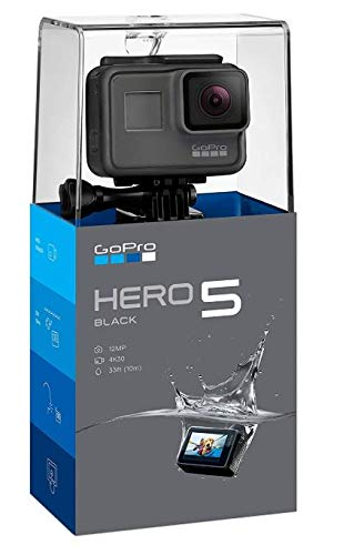 GoPro HERO5 Black Waterproof Digital Action Camera w/ 4K HD Video & 12MP Photo (Renewed) by GoPro