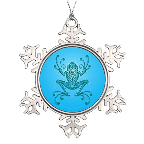(Cheyan Ideas for Decorating Christmas Trees Intricate Light Blue Tree Frog Frog Personalized Snowflake Ornaments Christmas)