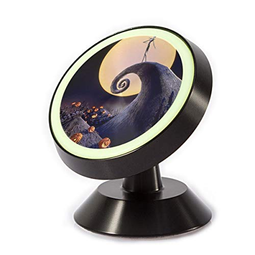 MAGICAI The Nightmare Before Christmas Magnetic car Mount Universal Rotation 360 Car Phone Mount Luminous Metal Magnetic Holder Compatible with iPhone Samsung etc.]()