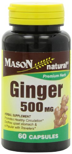 Mason Natural Ginger 500 Mg Capsules, 60 Count Bottle