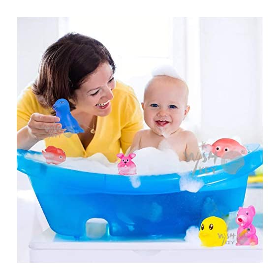 Ozo Baby Bath Toy Set of 14 Pcs Chu Chu Colorful Animal Shape Toy (Multicolor)