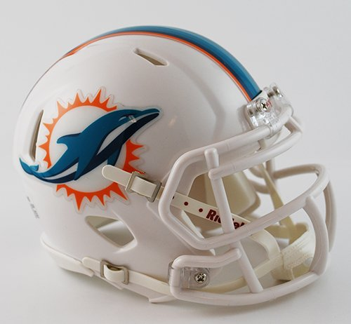 NFL Miami Dolphins Speed Mini Helmet - Riddell Nfl Replica Mini Helmet