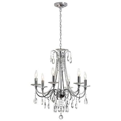 Amazon.com: Dainolite 615 – 246 C-pc Formal 6 luz lámpara de ...
