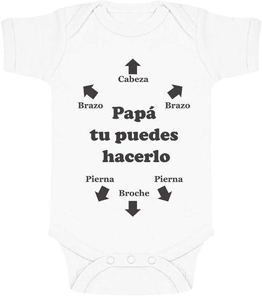 Body de Manga Corta para Bebé - Regalos Originales para Padres Primerizos - Papá Tu Puedes Hacerlo: Amazon.es: Ropa y accesorios