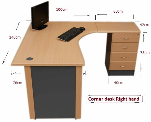 14 m office corner desk right hand with 4 drawer pedestal beech 14 m office corner desk right hand with 4 drawer pedestal beech dark grey amazon kitchen home watchthetrailerfo