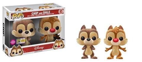 Funko POP Disney: Chip & Dale Flocked Vinyl Figures - 2 Pack SDCC 2017 Exclusive (Chip Pop)
