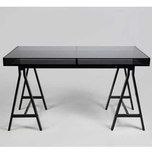 Schreibtischplatte glas  lounge-zone Schreibtisch Sekretär Tisch Büro CALAIS Tischplatte ...