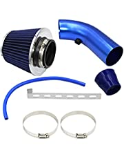Cold Air Intake, 76mm 3 Inch Universal Car Cold Air Intake Filter Performance Aluminum Induction Hose Pipe System Kit