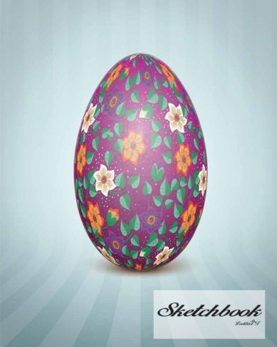 Sketchbook: The Easter egg with an Ukrainian folk pattern ornament :  120 Pages of 8
