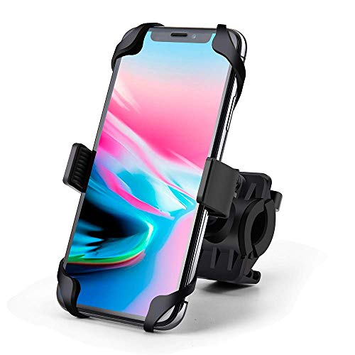 Bike Phone Mount, EastDeals 360° Adjustable Motorcycle/Bike Handlebar Universal Smartphone Mount Time/Map/Music/GPS Navigation for iPhone X 8 7 6 5 Plus Samsung S9 S8 S7 S7 S6 S5