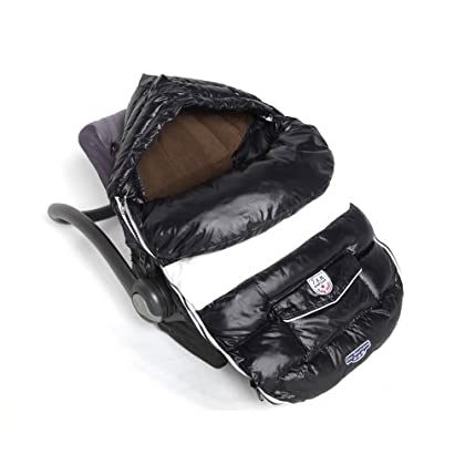 Image of 7 A.M. Enfant Baby Shield Footmuff - Black - Medium Baby