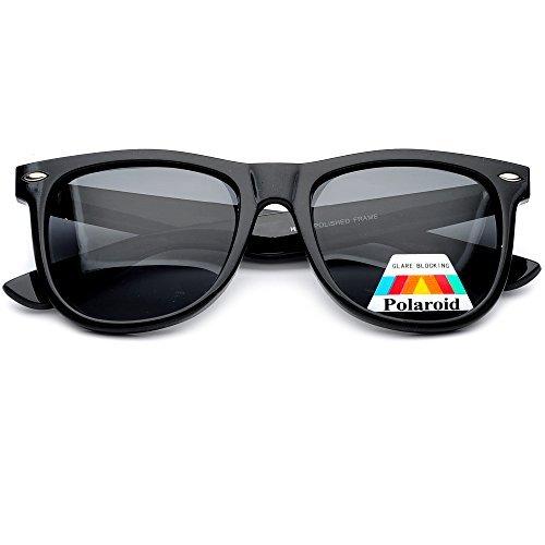 Large 55mm Polarized Lens Anti Glare Classic Style Sunglasses ()
