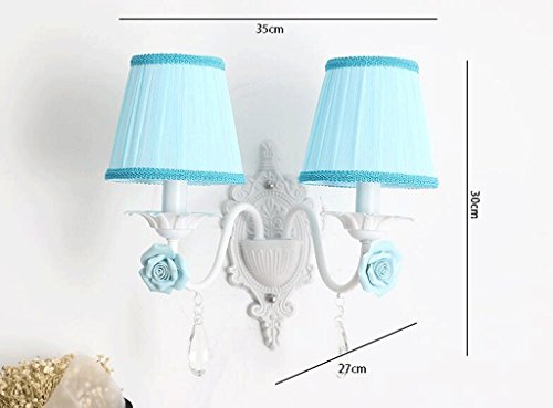 Fzw Forgé Jardin Chambre Mur Fer Cristal Applique Coréenne Lampe uKTl1JFc3