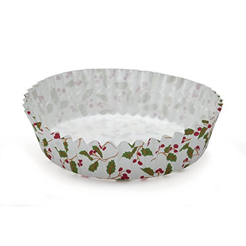 Baking Cups - Christmas Holiday Ruffled by Welcome Home (30) (Winters Holly)