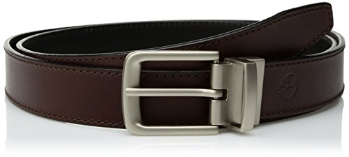Silver Reversible Belt - Timberland Men's Classic Leather Belt Reversible From Brown To Black, Brown/black, 34