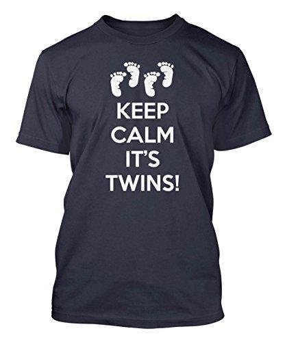 Keep Calm It's Twins! Men's T-shirt (Medium, NAVY BLUE)