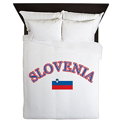 CafePress - Slovenia Soccer Designs - Queen Duvet Cover, Printed Comforter Cover, Unique Bedding, Microfiber by CafePress