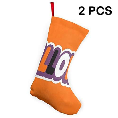 Ladninag Christmas Stockings Halloween Word Sticker Fantastic Christmas Decoration Socks 2 pcs -