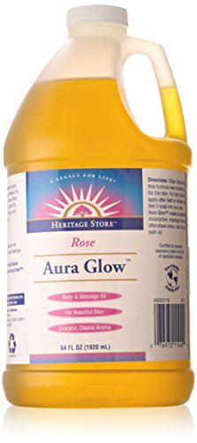 Aura Glow-Rose Heritage Store 64 fl oz Liquid Aura Glow Massage Oil