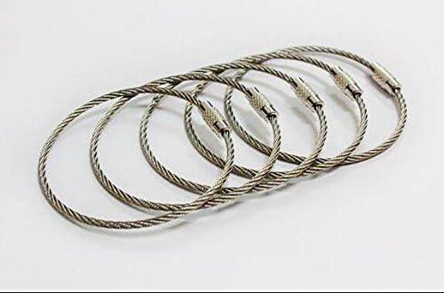Amazon.com: kangyuan alambre de acero inoxidable llavero ...