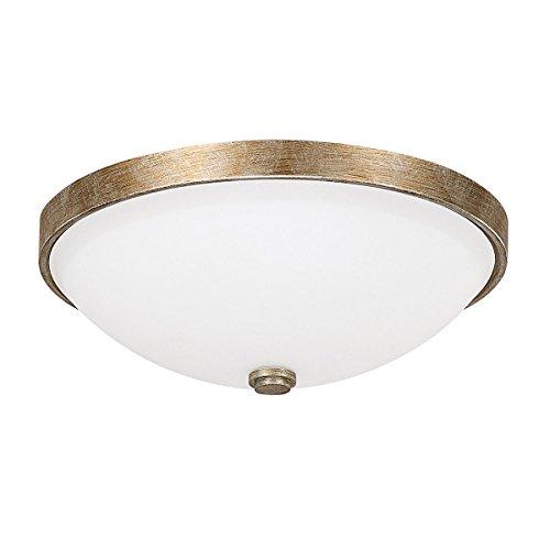 Capital Lighting 2323SA-SW Covington 2-Light Flush Mount, Sable Finish with Soft White Glass