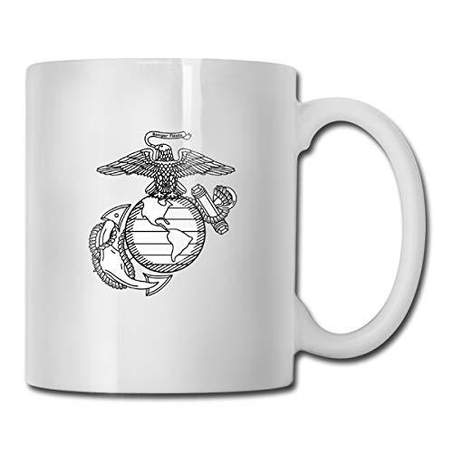 - US Marine Corps Eagle Globe And Anchor Gift Funny Coffee Mug Tea Cup White Tisane