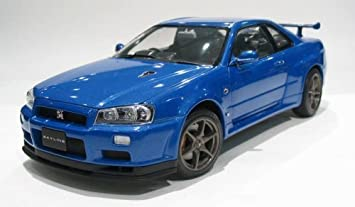 Nissan Skyline Gtr R34 V Spec Ii Blue 1 24 Scale Diecast Model