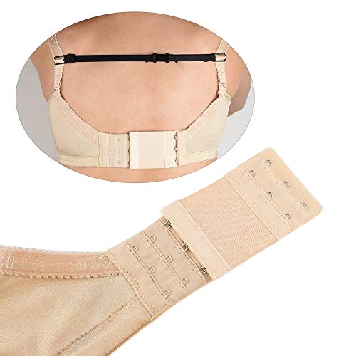 ZEVONDA Bra Extender Set Women Comfortable Soft Elastic Stretchy Bra Extenders And Bra Non-slip Shoulder Strap