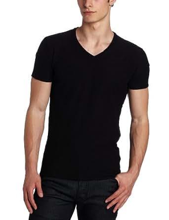 Diesel Men's Tos Reversed-Slub Jersey T-Shirt,  Black, Large