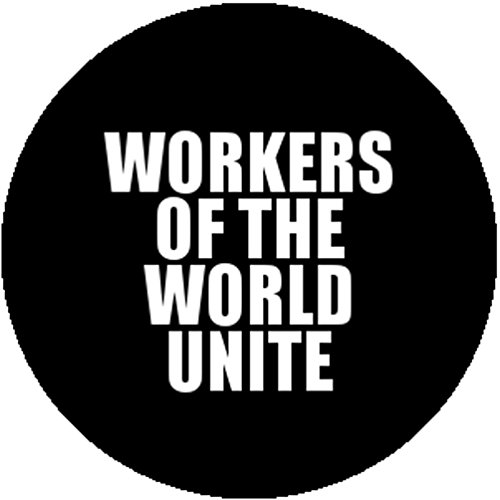 Karl Marx Costume (New Badge Button Pin Workers of the World Unite Karl Marx Communist Manifesto)