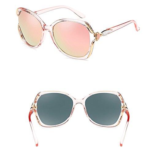Elegantes Pink color Color De Con De Gafas Gafas Sol Polarizadas Multi Sol LIUXUEPING Marco 4Ugan