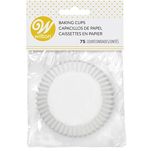 Wilton 415-2505 White Standard 75 Baking Cups, Single Pack