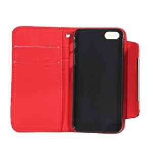 Fashion PU Leather Magnetic Flip Wallet Purse Case Cover Protector for iPhone 5