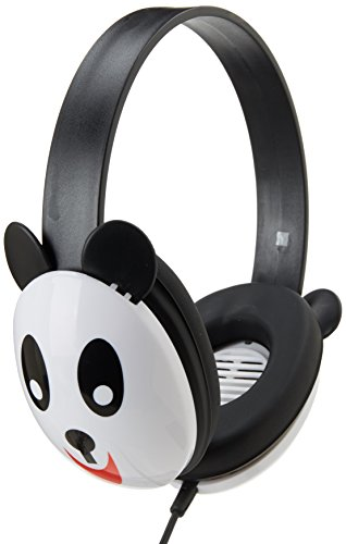 Califone 2810-PA Listening First Kids Stereo Headphones, Panda Design, PC and Apple Compatible