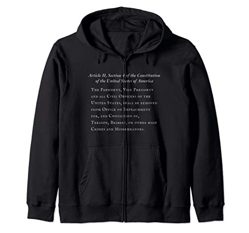 Article II Section 4 of the Constitution of the U.S.A. Zip Hoodie