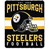 Pittsburgh Steelers Blanket. This soft fleece throw blanket will keep you warm at the game or ar home.